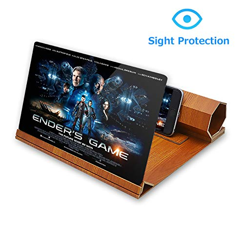 "ORETECH Screen Magnifier, 12"" Foldable Smart Phone Screen Amplifier Projector Movie"