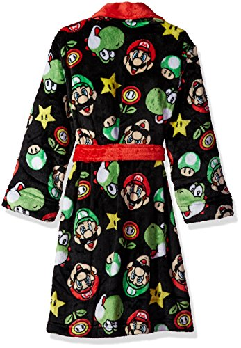 Komar Kids Boys' Big Mario Robe, Black, Small