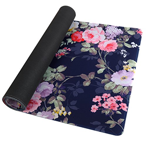Large Gaming Mouse Pad - Navy Blue Rose