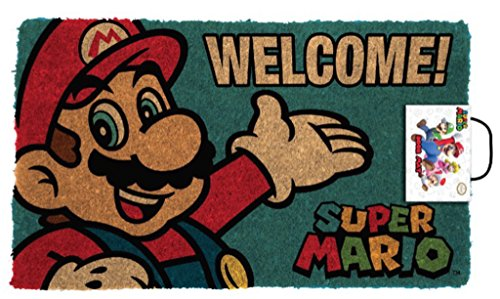 Pyramid America Super Mario Portrait Welcome Video Game Door Mat 30x18 inch