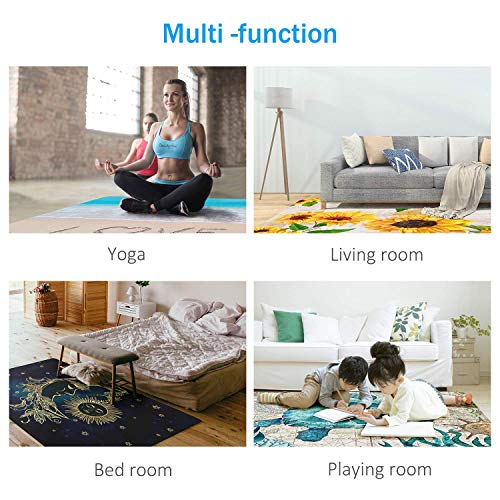 Gamer Controller Area Rugs Non-Slip Floor Mat Doormats Home Runner Rug Carpet for Bedroom Indoor Outdoor Kids Play Mat Nursery Throw Rugs Yoga Mat
