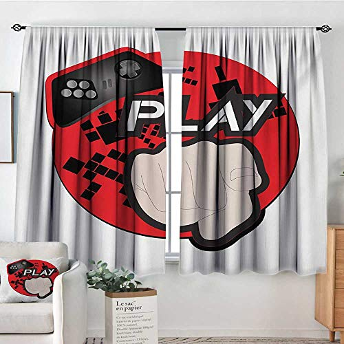 Elliot Dorothy Bedroom Curtains Gamer,Gaming Illustration with Play Quote