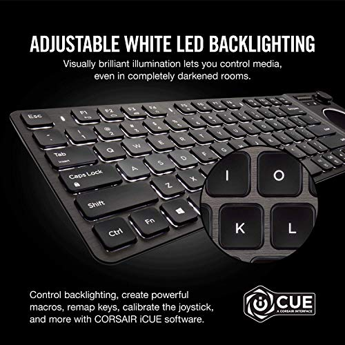 Corsair K83 Wireless Keyboard - Bluetooth and USB - Backlit LED
