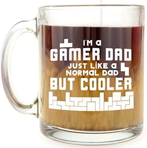 I'm a Gamer Dad, Just Like a Normal Dad But Cooler - Glass Coffee Mug
