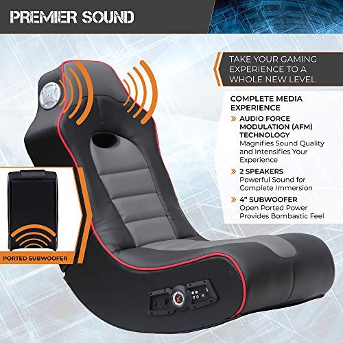 X Rocker Surge Wireless Bluetooth 2.1 Sound Rocking Video Gaming Floor Chair