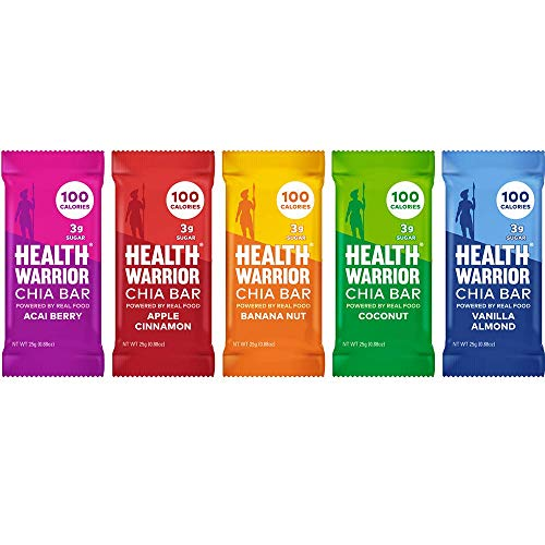 Health Warrior Chia Bars Best Seller Variety Pack (15 Count)