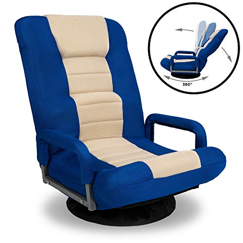 Best Choice Products 360-Degree Swivel Gaming Floor Chair w/Armrest Handles