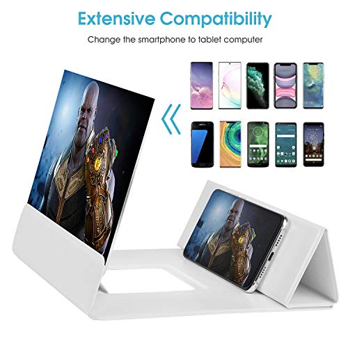 【2020 Update Version】 12'' Phone Screen Magnifier with Foldable Magnetic Leather