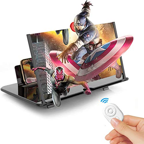 "12"" Screen Magnifier for Smartphone,3D HD Mobile Phone Magnifier Projector Screen"