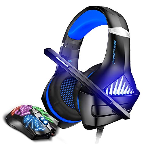 Blue BENGOO Stereo Gaming Headset with Mouse