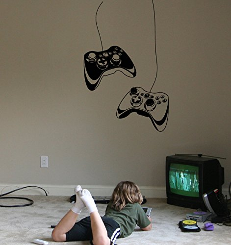 Wall Decal Gamer Gaming Joystick Vinyl Art Kids Room Large Decor