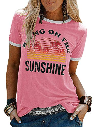 Pink (Bring On The Sunshine) Tees Blouses for Women