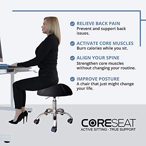 THE ORIGINAL Balance Fit Ball Office Chair, Adjustable Desk Stool - Ergonomic Office Chair