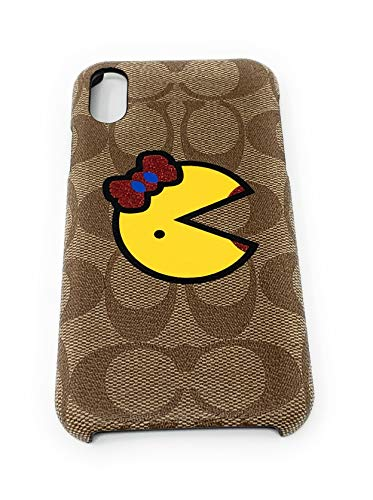 Coach iPhone Xs Max Case in Signature Canvas with Ms. Pac-Man