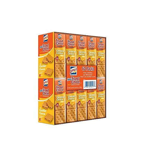 Lance Sandwich Crackers, ToastChee Cheddar Cheese (40 pack)