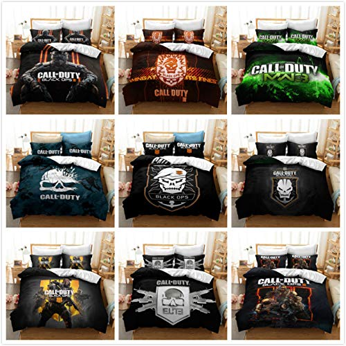 Wdbridal Call of Duty Bedding Set for Boys Soft Microfiber Gaming Theme