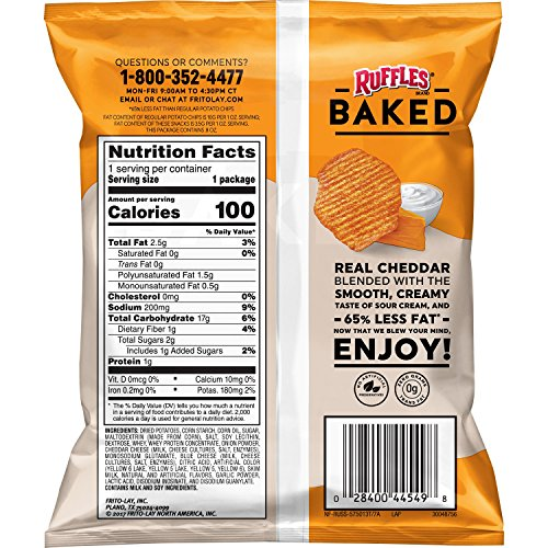 Frito-Lay Baked & Popped Mix Variety Pack, Pack of 40