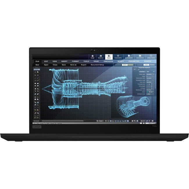 "Lenovo ThinkPad P43s 20RH004BUS 14"" Mobile Workstation - 1920 x 1080 - Core i7 i7-8565U - 24 GB RAM - 512 GB SSD - Black"