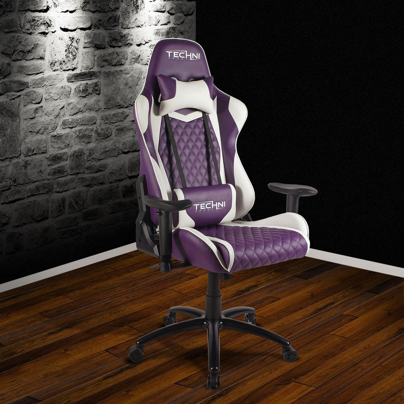 Purple & White GG Series Reclining Gaming Chair