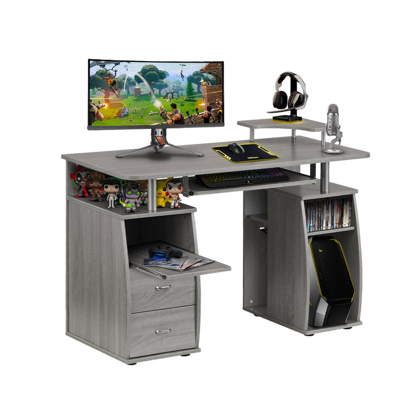 Techni Sport Gaming Desk with Storage Drawers - Timbur at Gaming Girlfriends