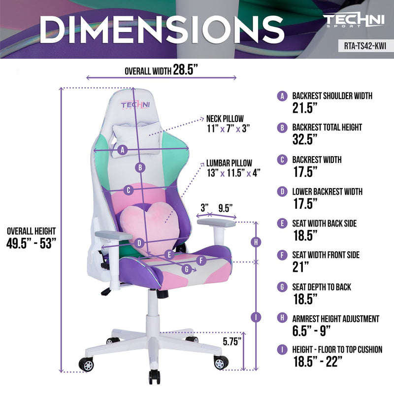 Kawaii Colors Pink & White Gaming Chair