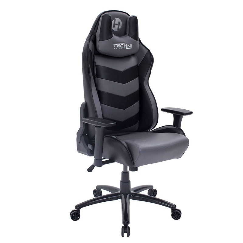 Gray & Black Comfort Plus Reclining Gaming Chair at Gaming Girlfriends
