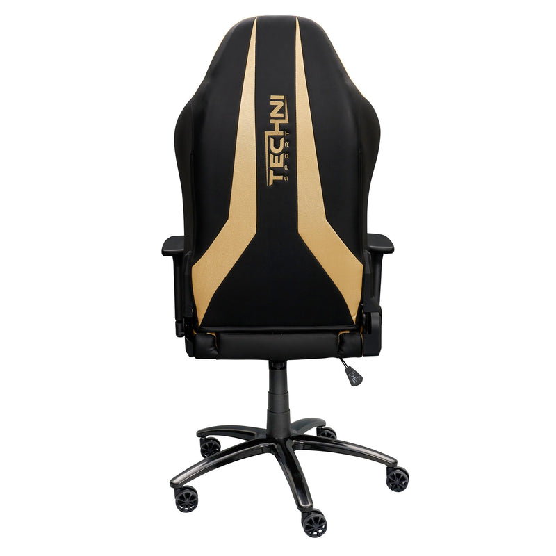 Gold & Black Comfort+ Series Reclining Gaming Chair