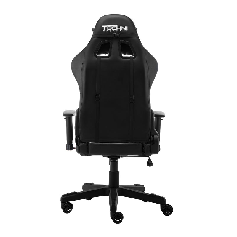 White & Black ProGamer2 Series Reclining Gaming Chair