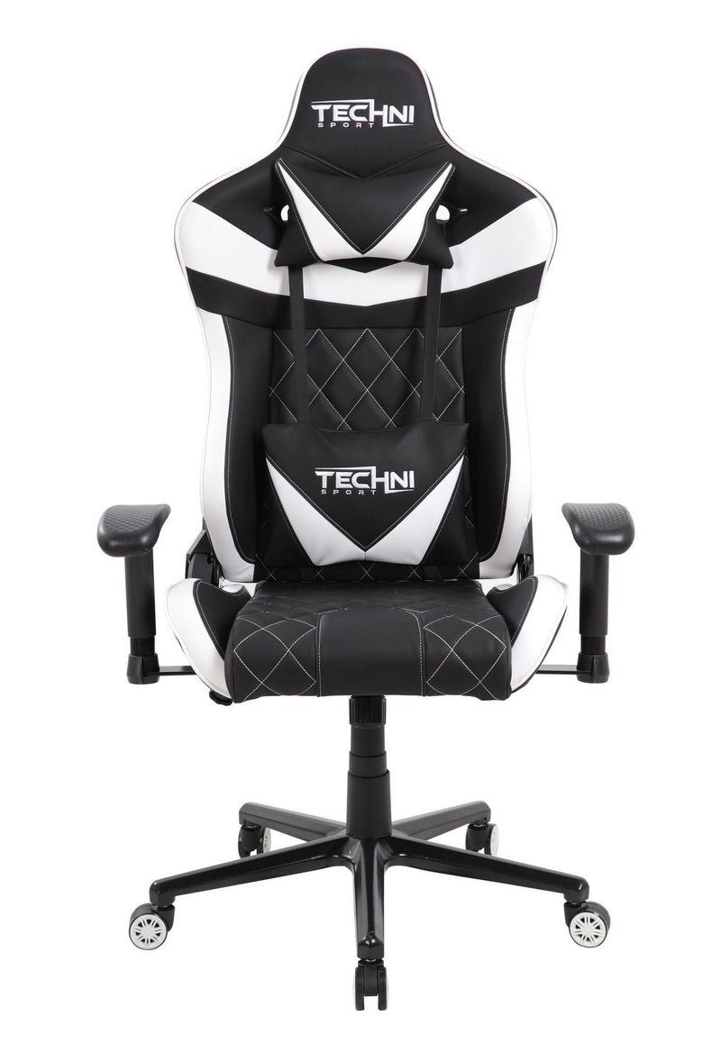 TSXL1 White & Black GamerXL Series Reclining Gaming Chair at Gaming Girlfriends