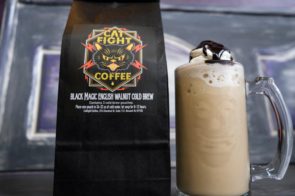 How to make Black Magic Frappuccino at home with Catfight Cold brew.