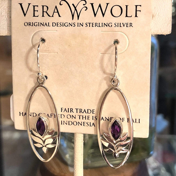 Amethyst Earrings- February Birthstone earrings Utopianorthwest