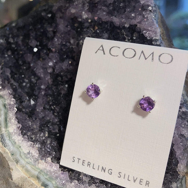 Amethyst earrings- February Birthstone earrings Utopianorthwest  Amethyst Geode sold separately.