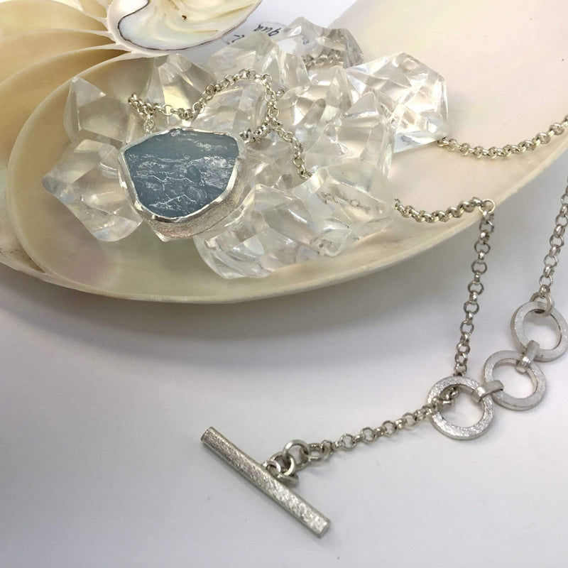 Aquamarine Necklace, March Birthstone Utopianorthwest