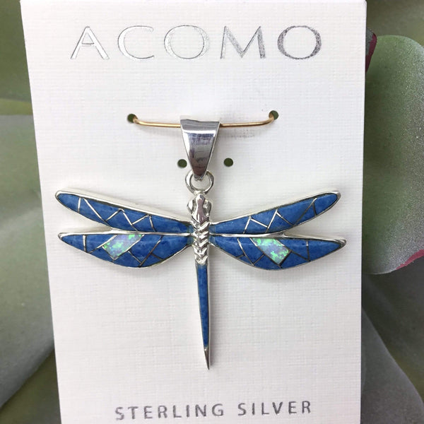 Denim Lapis Dragonfly Pendant Utopianorthwest