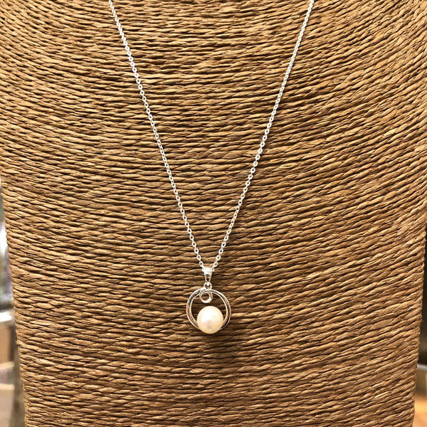 Freshwater Pearl Necklace in Sterling Silver Utopianorthwest