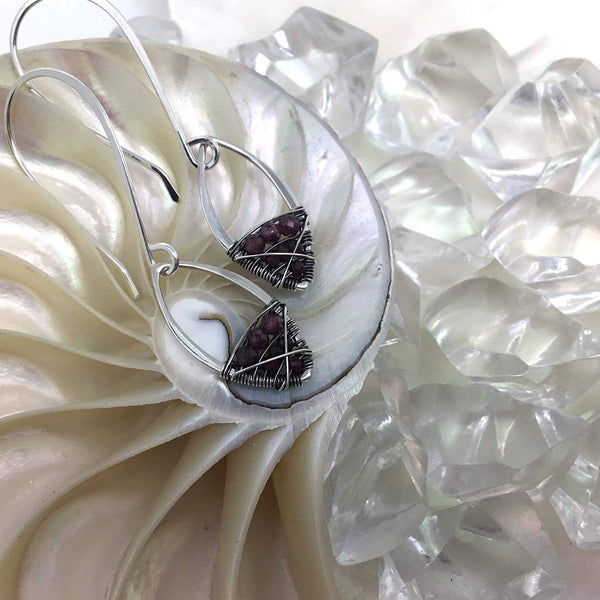 Garnet Earrings- January Birthstone earrings Utopianorthwest