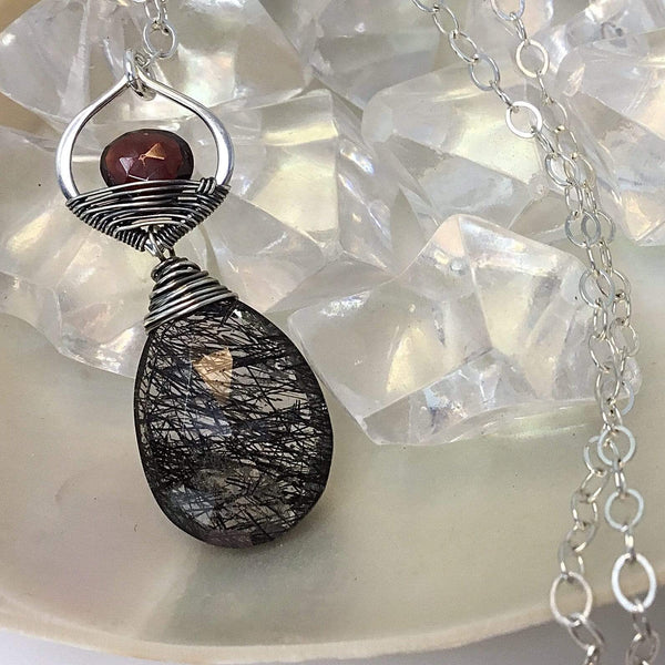 Garnet Necklace & Tourmaline Necklace Utopianorthwest