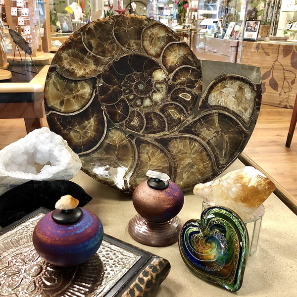 Home Decor- Fossils, Crystals, Art Glass, Pottery Utopianorthwest