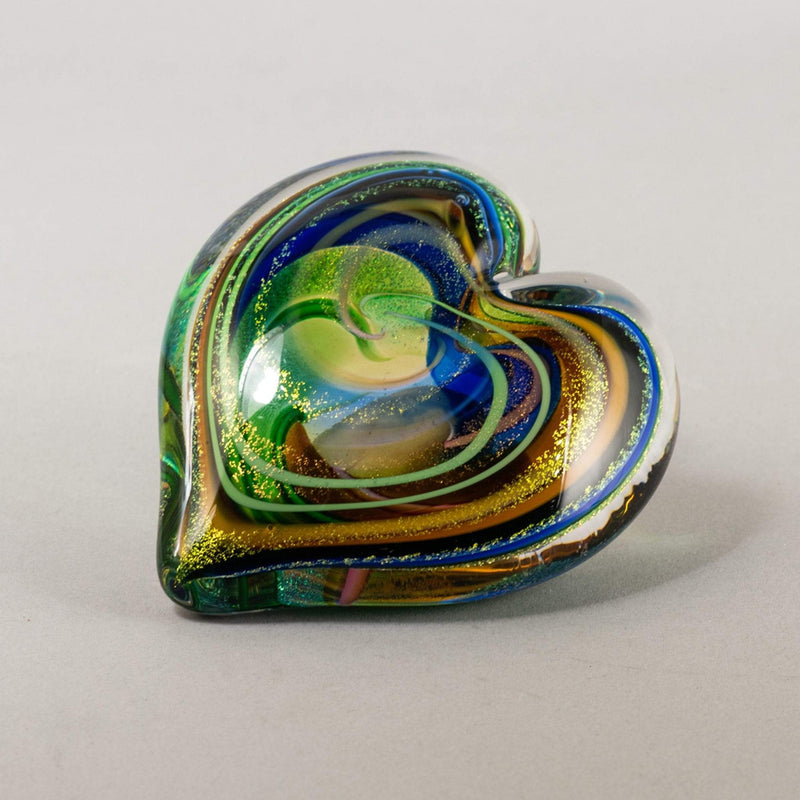 "Home Decor- Fossils, Crystals, Art Glass, Pottery Utopianorthwest  Approximately 3.5"" wide / Glass Heart"