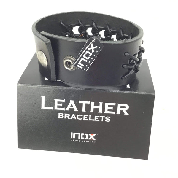 Men's Leather Link Bracelet Utopianorthwest