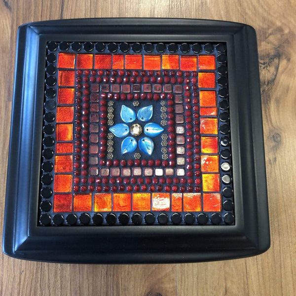 Mosaic Jewelry Box Utopianorthwest  Available in Gold w/ earthy tones of bronze & browns. / 9 x 9