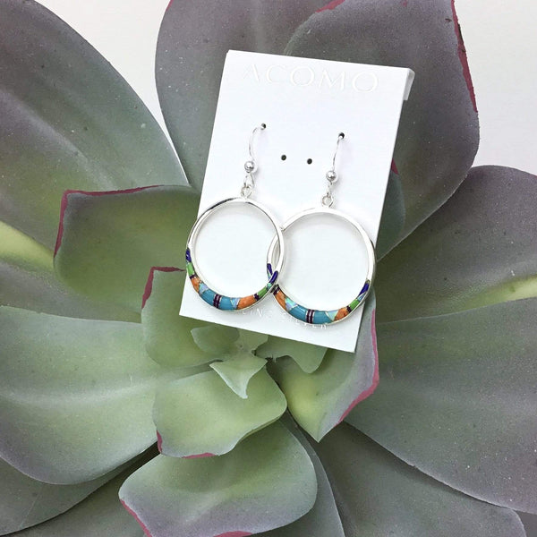 Multi Stone Inlay Earrings Utopianorthwest