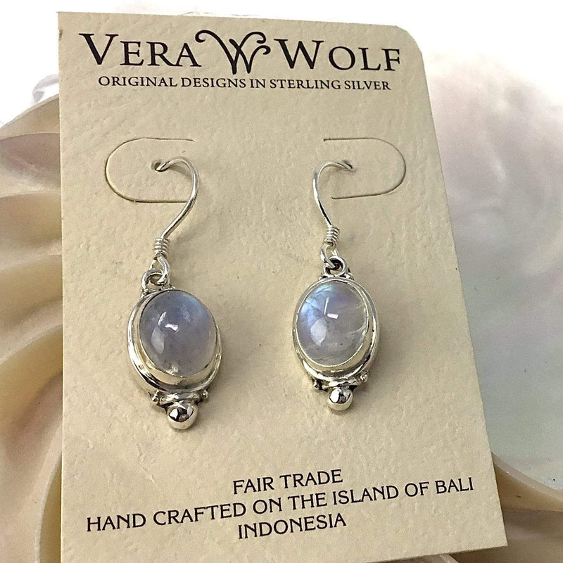 Rainbow Moonstone Earrings Utopianorthwest