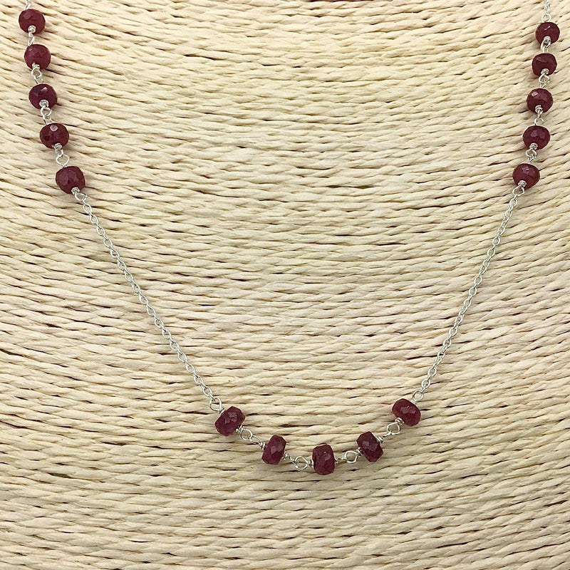 Ruby Sterling Silver Necklace Utopianorthwest