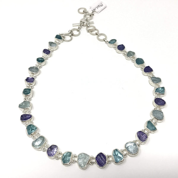 Tanzanite, Aquamarine, Apatite Necklace Utopianorthwest