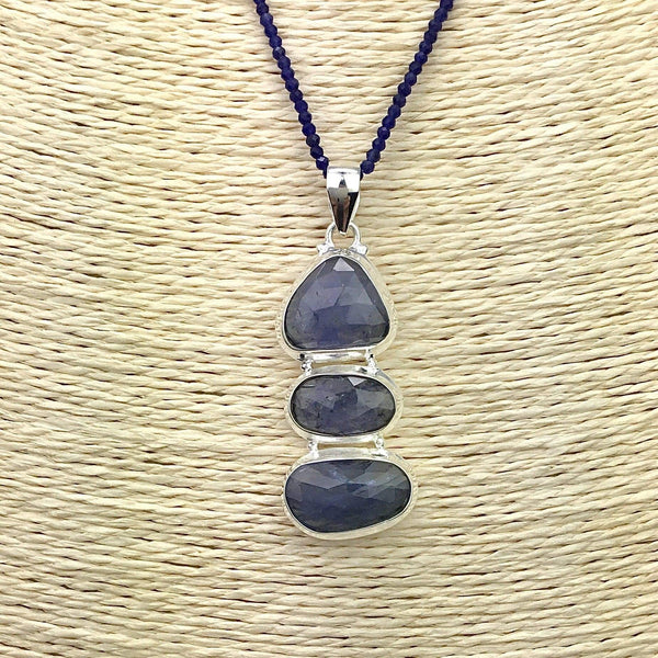 Tanzanite Pendant & Sodalite Faceted Gem Necklace Utopianorthwest