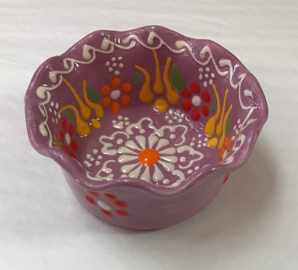 Turkish Pottery Small Tart Bowl