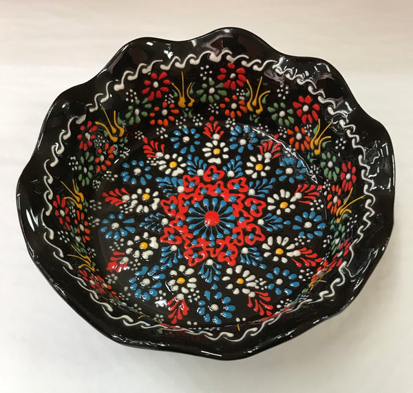 Turkish Pottery Large Tart Bowl