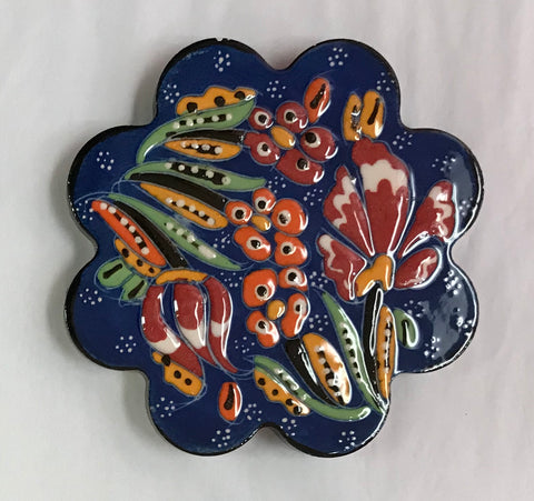 Turkish Pottery Ceramic Coaster