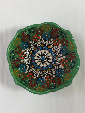 Turkish Pottery Small Novelty Edge Bowl